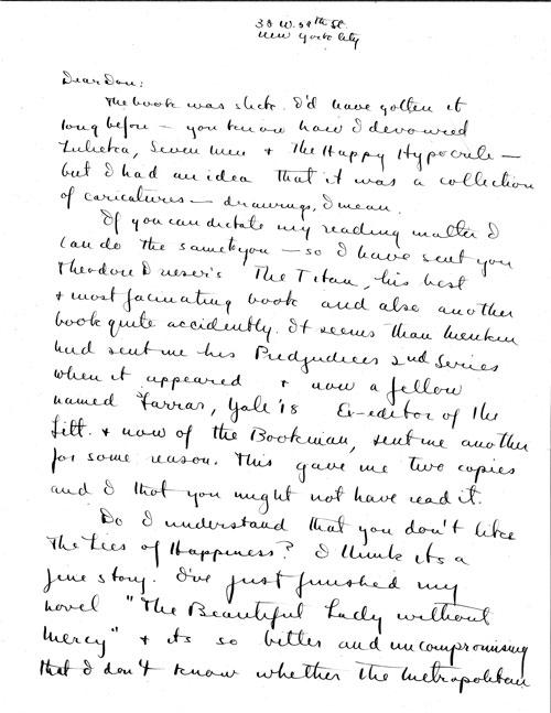 Fitzgerald Letter