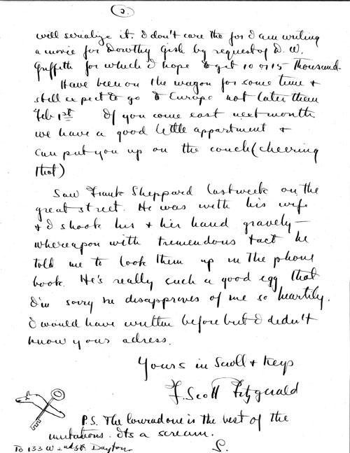 Fitzgerald Letter 2